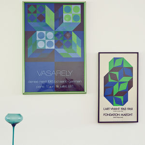 blue green posters