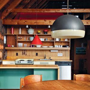 jens risom gabled roof kitchen wood shelving square
