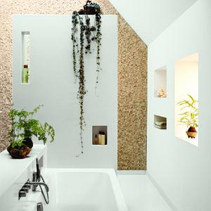 13noordeinde bathroom open overhead skylight stone tiles