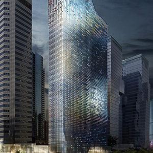 seoul skyscraper photovoltaic cells in facade