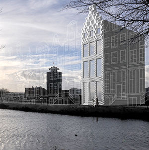 3-d printed canal house on the amsterdam river