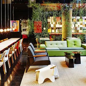 communal lobby seating