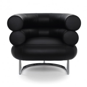 leather tubular black chair by eileen gray