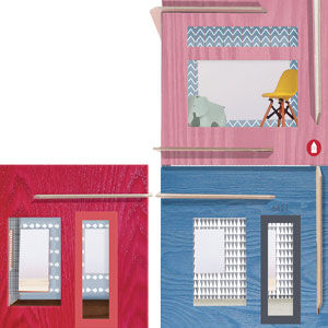 DIY colorful dollhouses