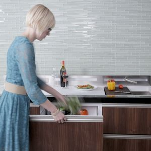 A rendering of the new GE Micro Kitchen concept