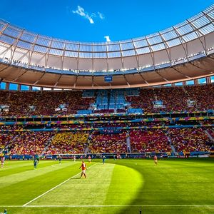 The new Estadio Nacional de Brasilia soccer stadium, a net-zero energy project