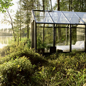 extended shedded bliss glass greenhouse full view