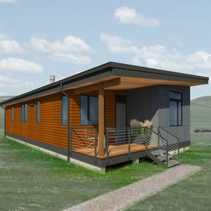 A rendering of a design for Make It Right Foundation's Fort Peck Housing Project