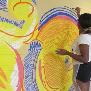 detail school mural