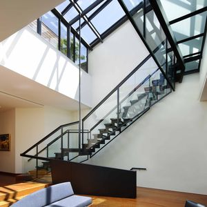 Manhattan apartment with glass staircase and skylight