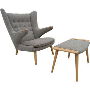 Hans Wegner's Papa Bear chair and ottoman
