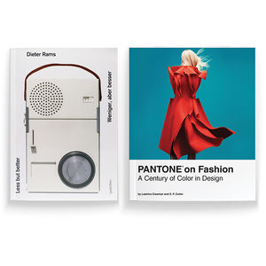 """Less but Better"" by Dieter Rams and ""Pantone on Fashion: A Century in Color Design"" by Leatrice Eiseman and E.P. Cutler"