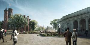 render sackler pavilion from mall