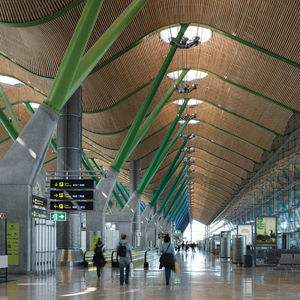 barajas airport madrid spain interior