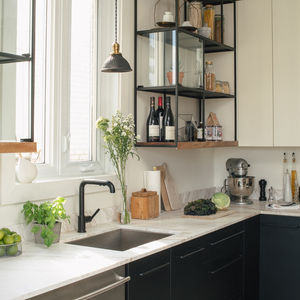 montreal kitchen ikea cabinet hack open shelving