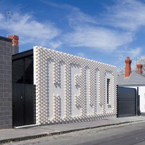 hello house white brick exterior melbourne