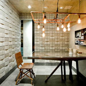 brazil architecture office concrete tiled wall