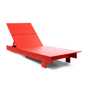 loll lollygagger chaise red