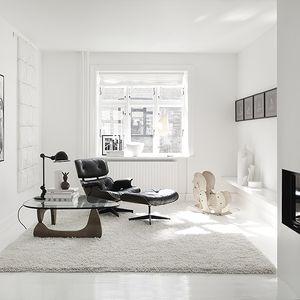 Monochromatic Living Room in Copenhagen Townhouse