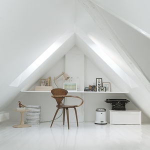 Monochromatic Loft Room in Copenhagen Townhouse