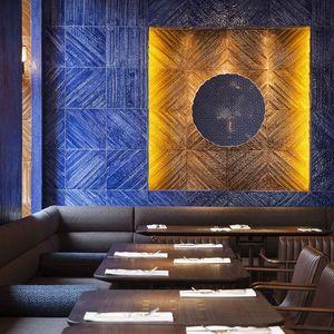 babaji dining room blue glazed wall