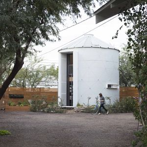 Grain silo converted into a home in Phoenix, Arizona