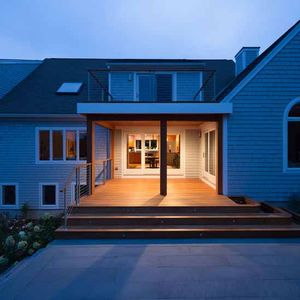 Cape Cod office addition exterior.