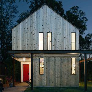 austin home red front door