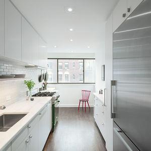 sweeten upper east side kitchen white stainless steel appliances