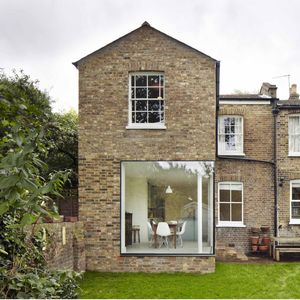 vegetarian cottage extension glass wall