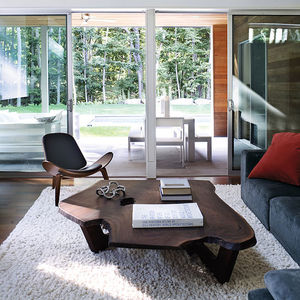 hamptons living room fallen wood table hans wegner chair