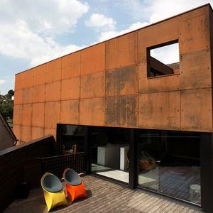 ferrum house corten steel facade