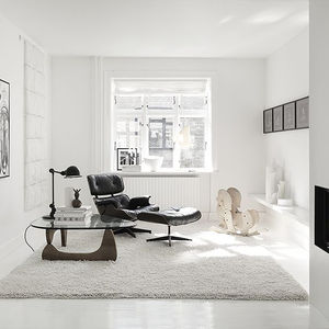 monochromatic copenhagen living room