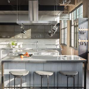denver loft industrial kitchen