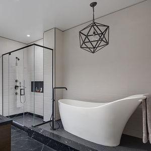 dumbo residence master bathroom white freestanding tub9