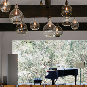 beverly hills living room piano view