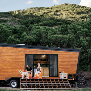 going mobile woody the trailer cedar exterior