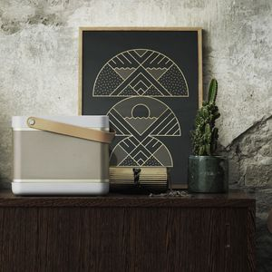 Beolit 15 Bluetooth Portable Speaker in Natural Champagne by Cecilie Manz for B+O Play