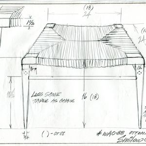 drawing sketch rush stool