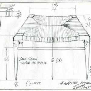 drawing sketch rush stool
