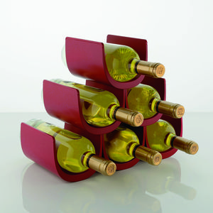 Modular wine rack for tabletop or floor