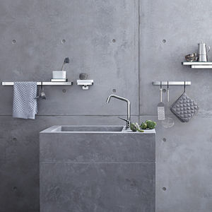 antonio citterio italtian architect designer bathroom design axor universal accessories kitchen brackets shelves