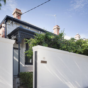 Victorian facade of Melbourne renovation.