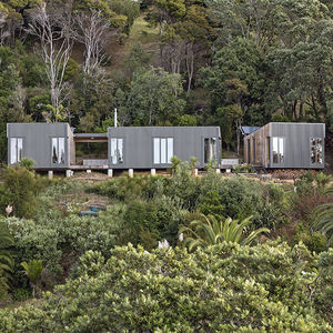 bach in action new zealand prefab beach facade preservation