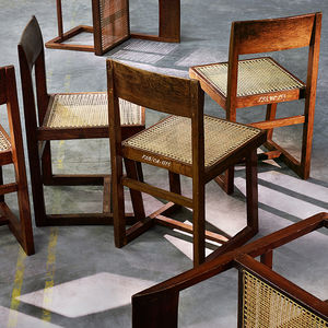 chandigarh sidebar chair made of teak structure cane work