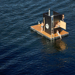 cold sweat seattle floating sauna gocstudio