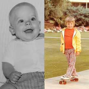 Childhood portraits of Brent Humphreys and Chad Holder