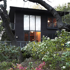 Redwood exterior of a Joseph Esherick house in Ross, California