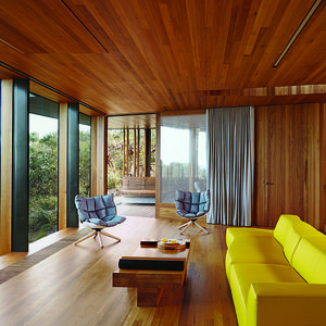 modern fairhaven beach house blackbutt eucalyptus living room Patricia Urquiola sofa