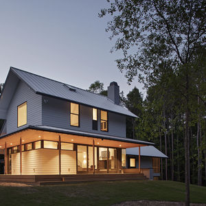 HardiePlank Lap Siding on modern-rustic North Carolina home.